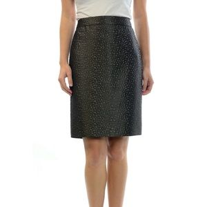J. Crew Shiny Circle Pattern Textured Pencil Skirt